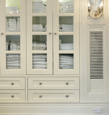 Charmant Glass Front Linen Cabinet