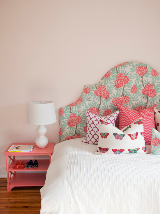 Caitlin wilson textiles mint fleur chinoise contemporary - Turquoise and pink bedroom ...