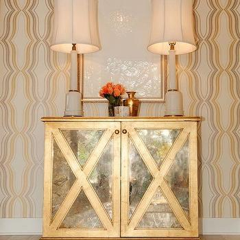 Gold Mirrored Chest, Contemporary, entrance/foyer, Butter Lutz