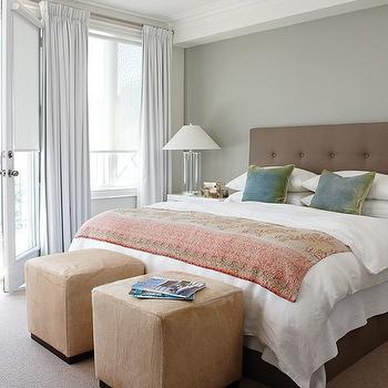 Taupe Tufted Headboard, Transitional, bedroom, House & Home