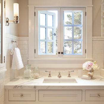 Edgecomb Gray, Traditional, bathroom, Benjamin Moore Edgecomb Gray, ScavulloDesign Interiors