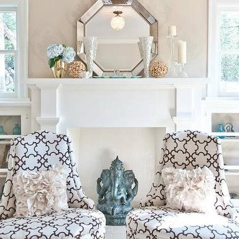 Octagon Mirror View Full Size. Contemporary Living Room With Pier 1 ... Part 62