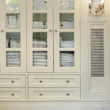Good Glass Front Linen Cabinet