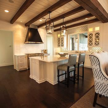 Kitchen Ceiling Beams , Cottage, kitchen, Southern Living