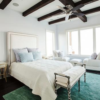 Green and Blue Bedroom, Transitional, bedroom, Southern Living