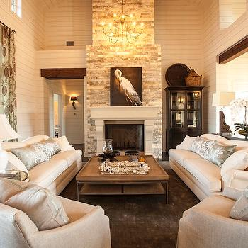 2 Story Living Room, Cottage, living room, Southern Living