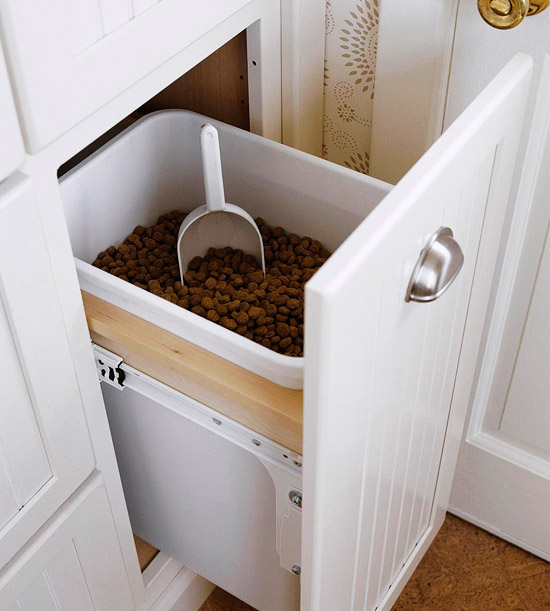 Pet Food Storage Cabinet - Traditional - kitchen - BHG