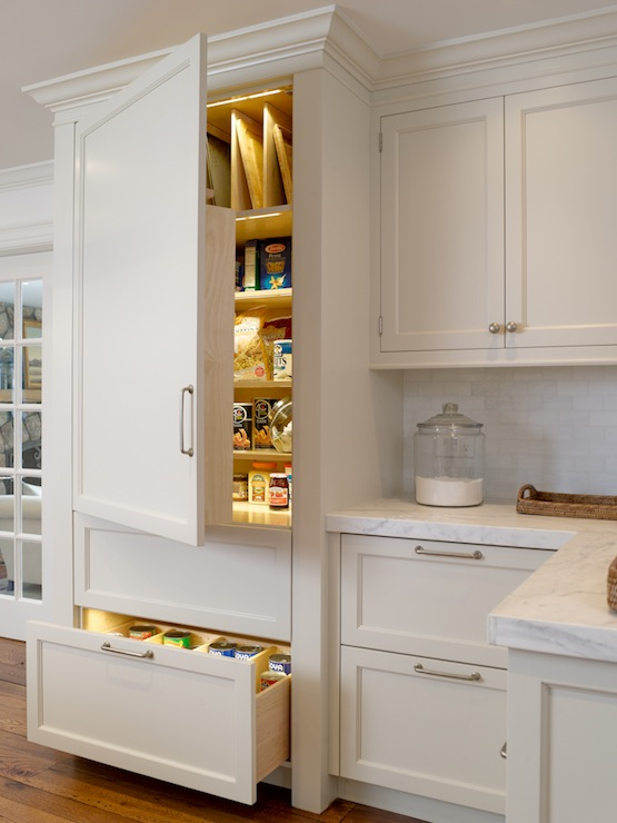 White shaker kitchen cabinets design ideas - Bathroom pantry cabinets ...