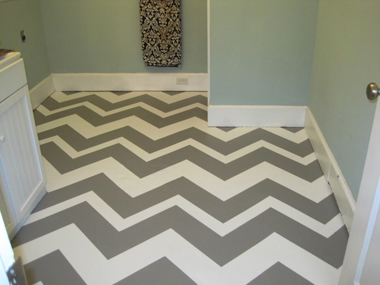 Chevron Walls Eclectic Entrance Foyer Rue Magazine