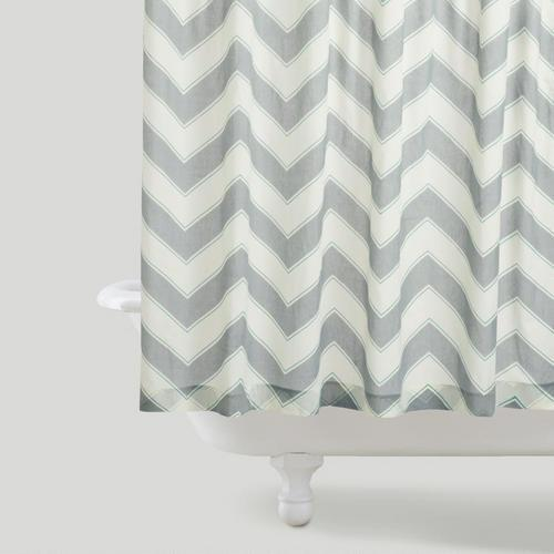 Threshold Gray Chevron Shower Curtain