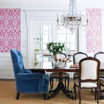 Pink and Blue Dining Room, Eclectic, dining room, Style at Home