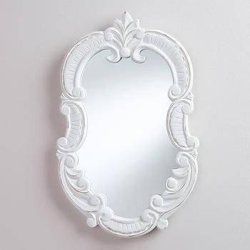 White Oval Adella Scroll Mirror, World Market