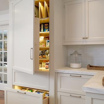 Wood Paneled Refrigerator, Transitional, kitchen, Lindy Weaver Design Associates