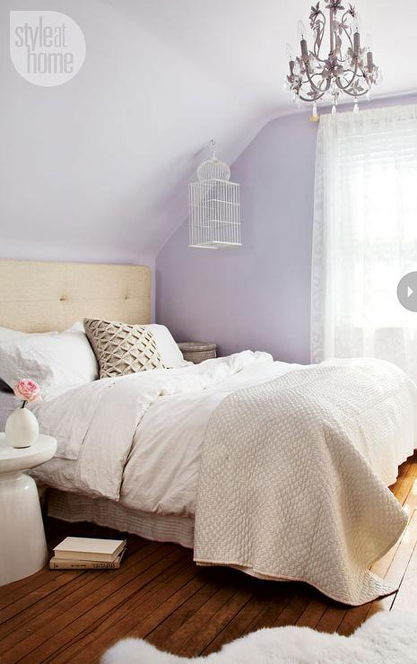 lavender and tan bedroom transitional bedroom style