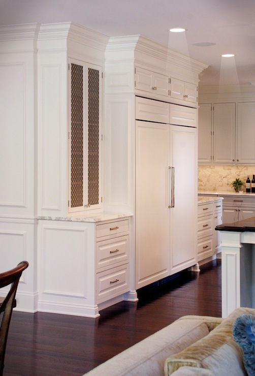 Chicken Wire Cabinet Doors Traditional Kitchen The