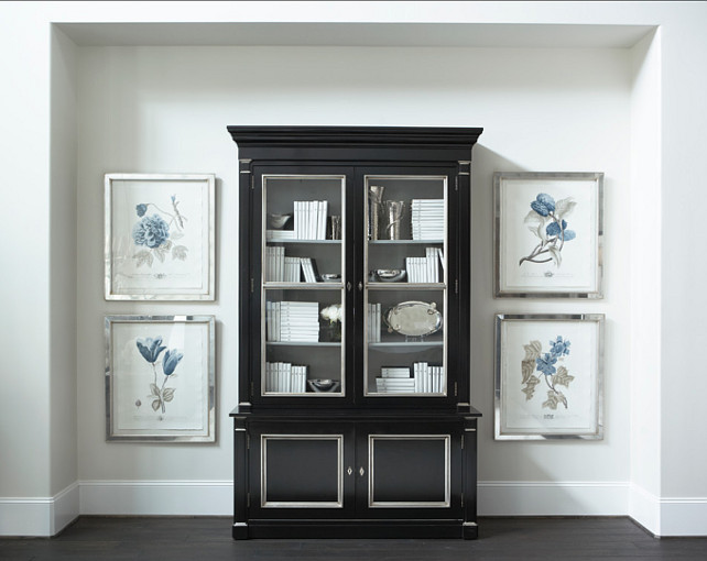Glass Front Armoire - French - living room - House Beautiful