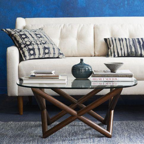 Spindle Coffee Table West Elm - West elm geometric coffee table