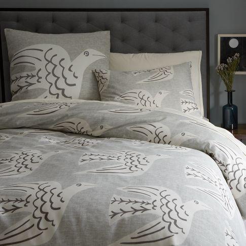 duvet queens quilt house cover bedding beautiful com c dp queen bird print s set amazon