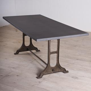 Gwalior Zinc Finished Iron Dining Table India Overstockcom - Restoration hardware zinc table