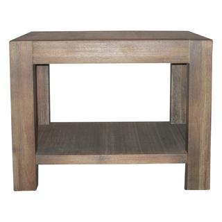 Reclaimed Grey End Table Overstock Com