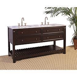 Granite Top 68 Inch Double Sink Bathroom Vanity Overstock Com