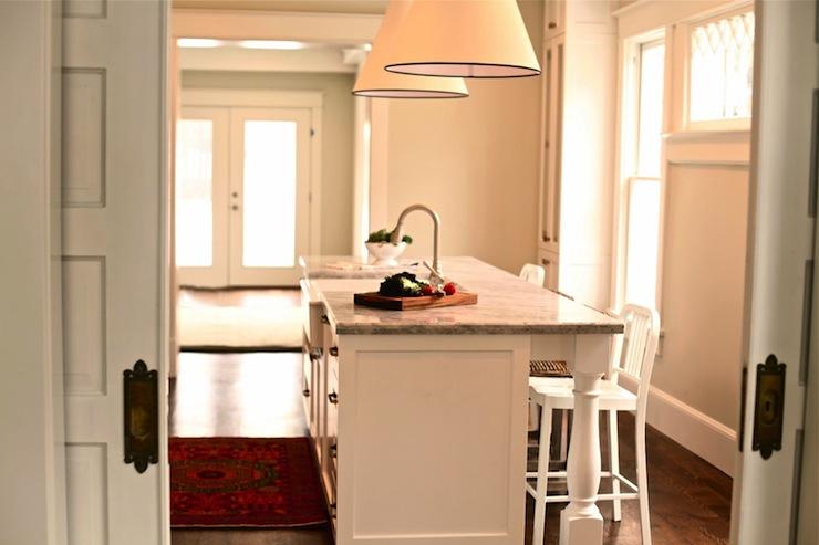 Super White Quartzite Countertops Transitional Kitchen