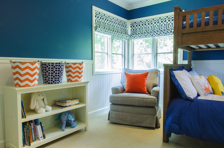 Blue And Orange Boy S Room Contemporary Boy S Room