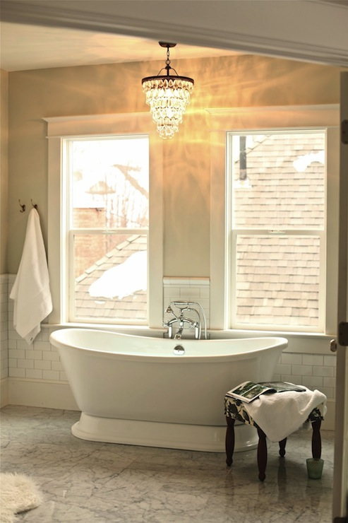 view full size & Chandelier Over Tub Design Ideas