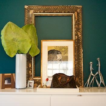 Teal walls, Transitional, entrance/foyer, Natalie Clayman Interior Design