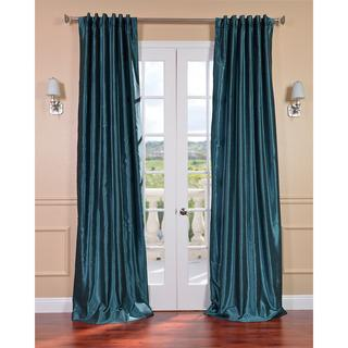 Peacock Vintage120-inch Faux Dupioni Silk Curtain Panel, Overstock.com