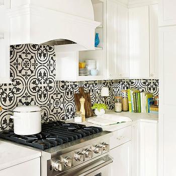 Quatrefoil Tile Eclectic Kitchen Bhg