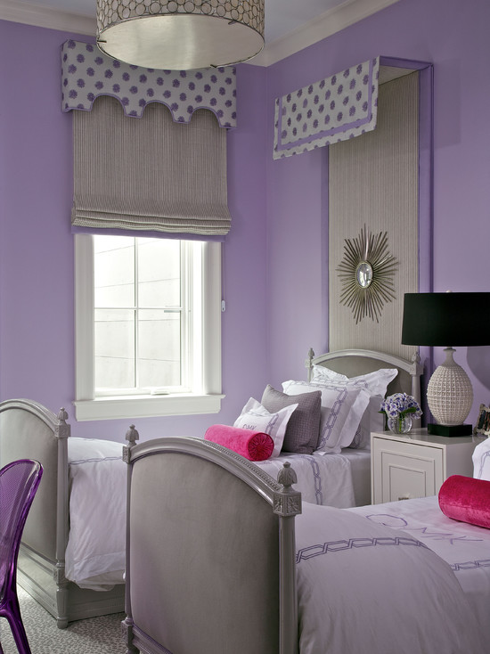 Purple and gray girls room contemporary girl 39 s room northworks architects - Purple room for girls ...