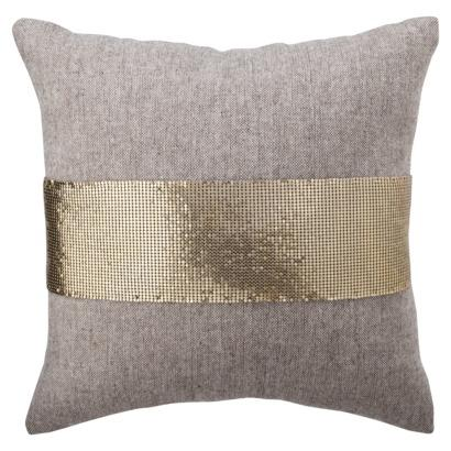 Nate Berkus For Target Gold Mesh And Tweed Pillow Target