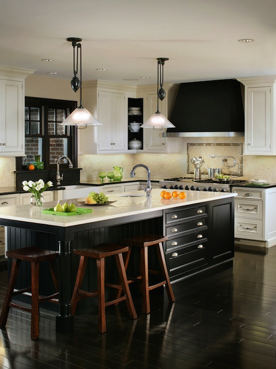 Black And White Kitchen Design Transitional Kitchen Canterbury