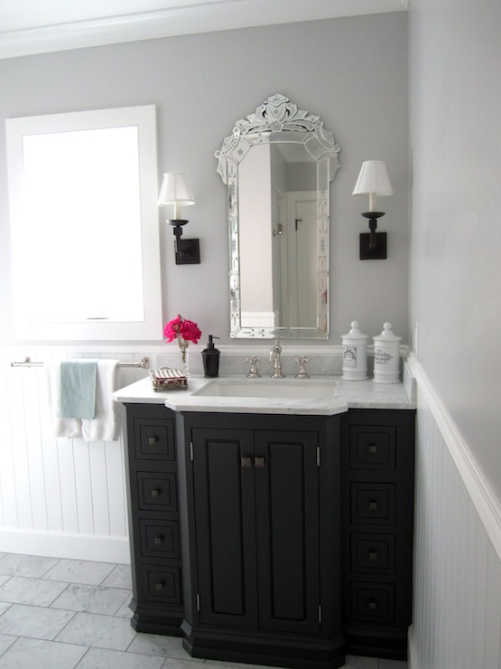 Venetian Mirror Traditional Bathroom Classic Casual Home
