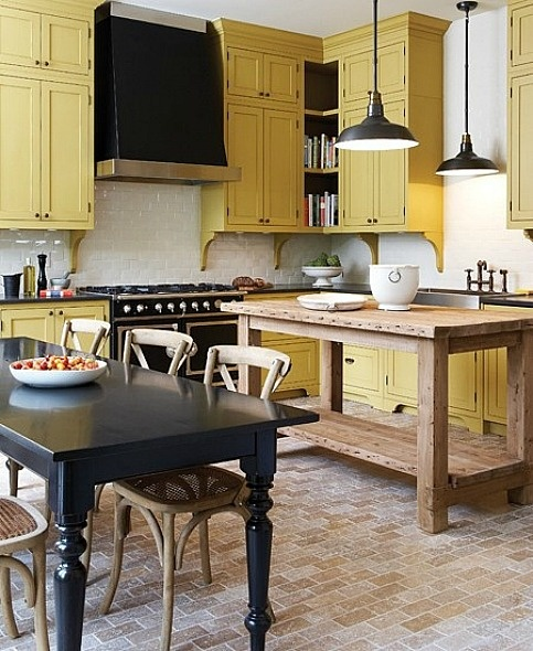 Yellow Kitchen With White Cabinets: Farrow & Ball Octagon Yellow