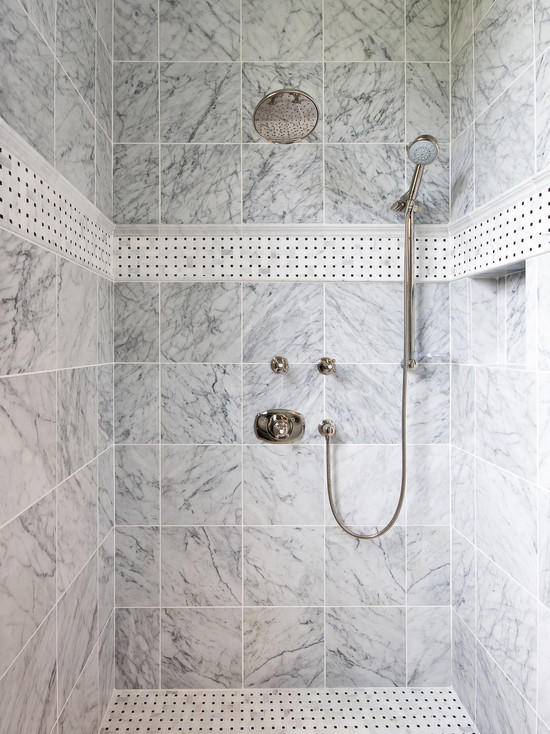 Marble Shower Design - Traditional - Bathroom - Carter & Company