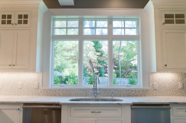 Marble Mosaic Tile Backsplash Transitional kitchen Michelle