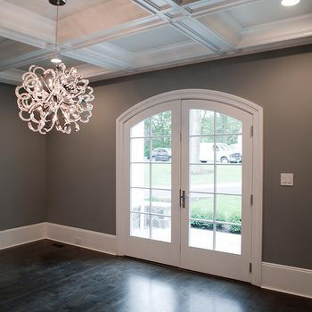 Dark Gray Paint Colors, Transitional, dining room, Muralo Pain Majestic Sky, Michelle Winick Design