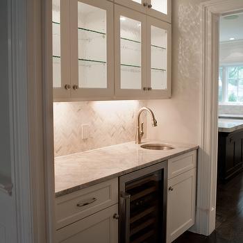 Michelle Winick Design Super White Granite Countertops
