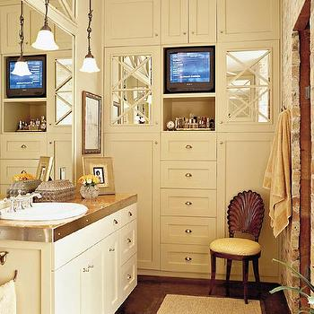Bathroom Cabinets Floor To Ceiling tv niche over built in cabinets design ideas