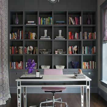 Mirrored Desk, Contemporary, den/library/office, Northworks Architects