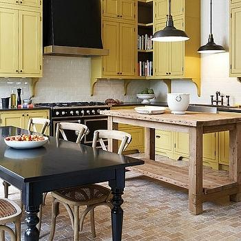 Yellow Kitchen Cabinets, Transitional, kitchen, Farrow & Ball Octagon Yellow, House & Home