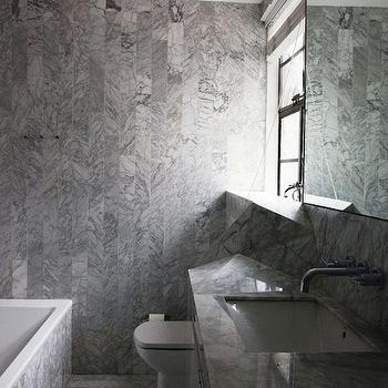 Modern Marble Bathroom, Modern, bathroom, The Selby