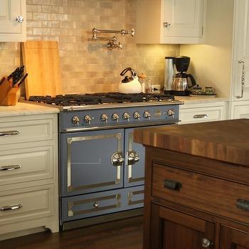 La Cornue CornuFe Stove in Provence Blue, Transitional, kitchen, Canterbury Design