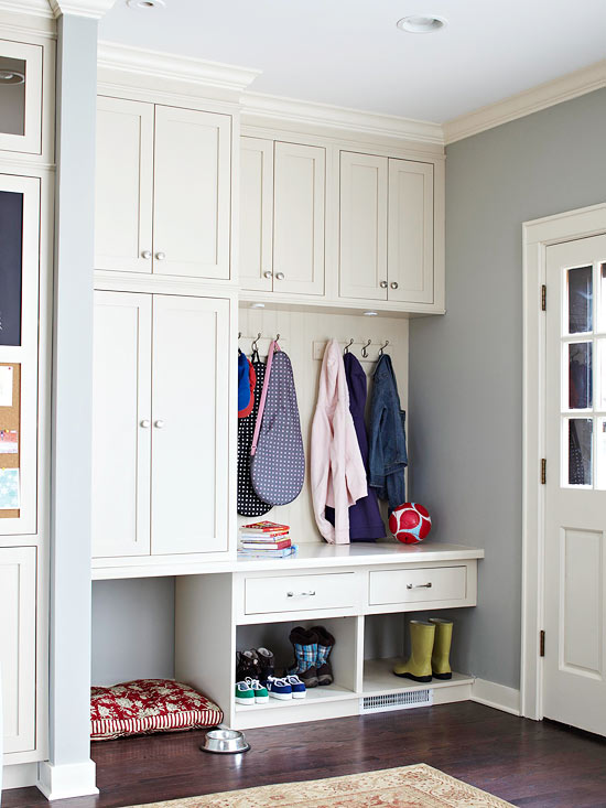 mudroom cabinets traditional laundry room bhg