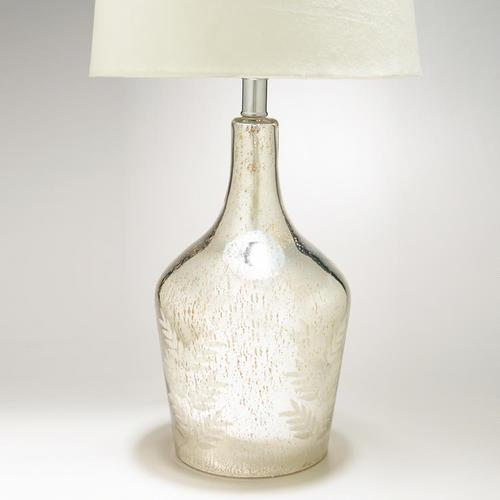 Mercury Glass Etched Table Lamp Base - World Market - Glass Etched Table Lamp Base - World Market