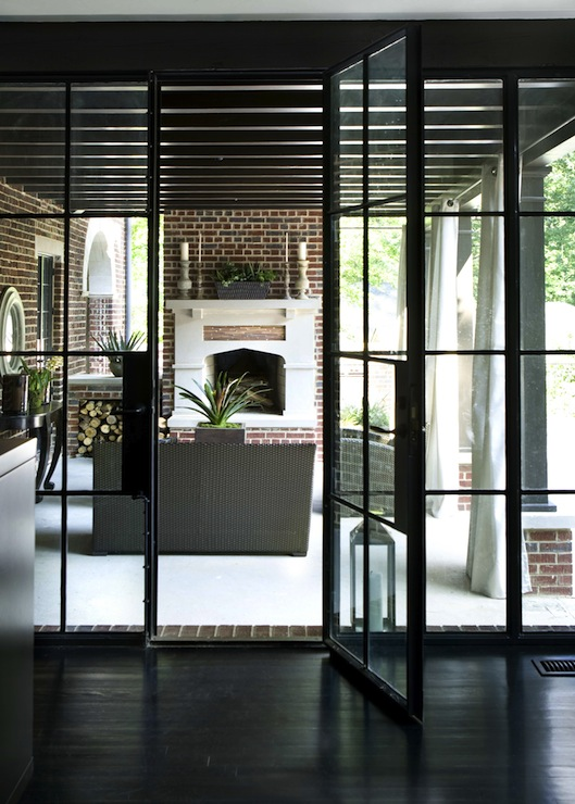 Black french doors design ideas for French doors to deck