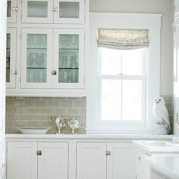 Gray Subway Tile Backsplash, Transitional, kitchen, Benjamin Moore Edgecomb Gray, Caitlin Wilson Design