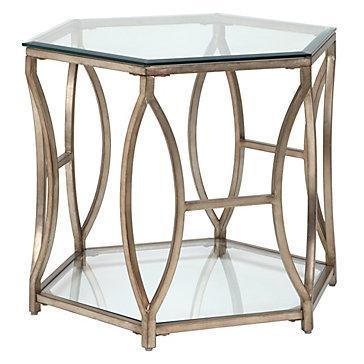Brooke Hexagonal End Table Z Gallerie